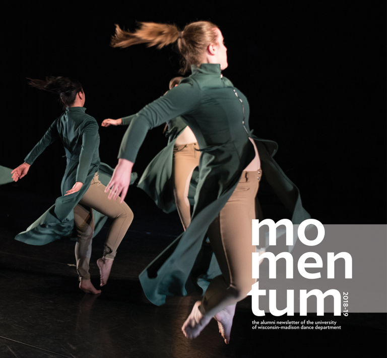Cover image from the 2018-19 Momentum alumni newsletter.