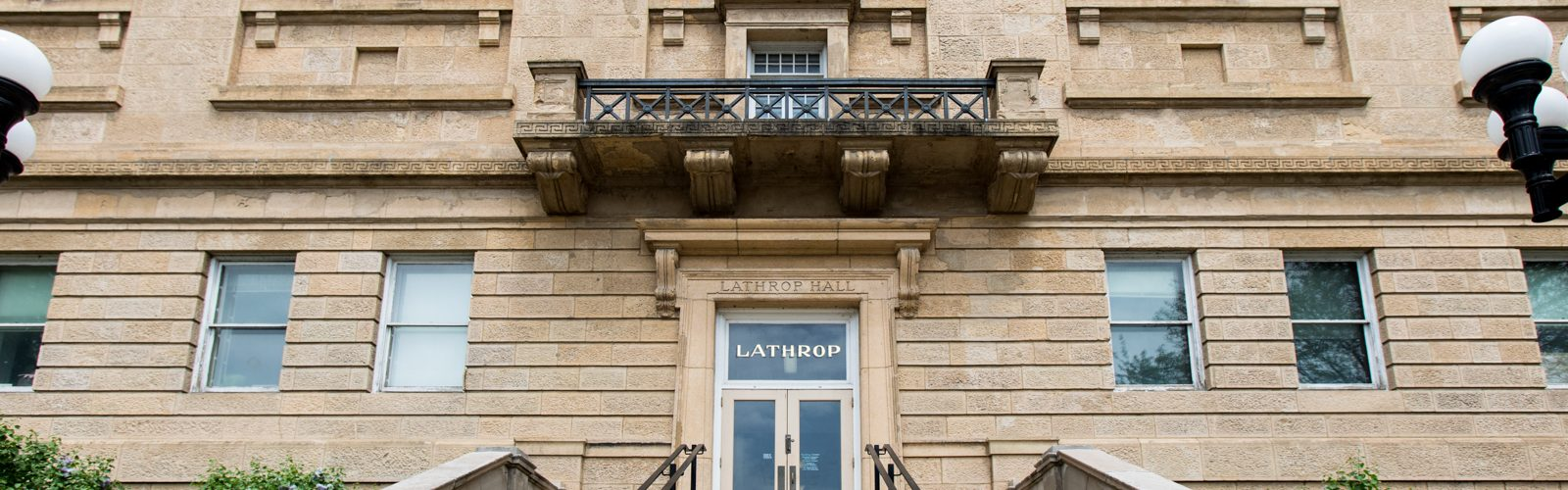 front entrance of lathrop hall